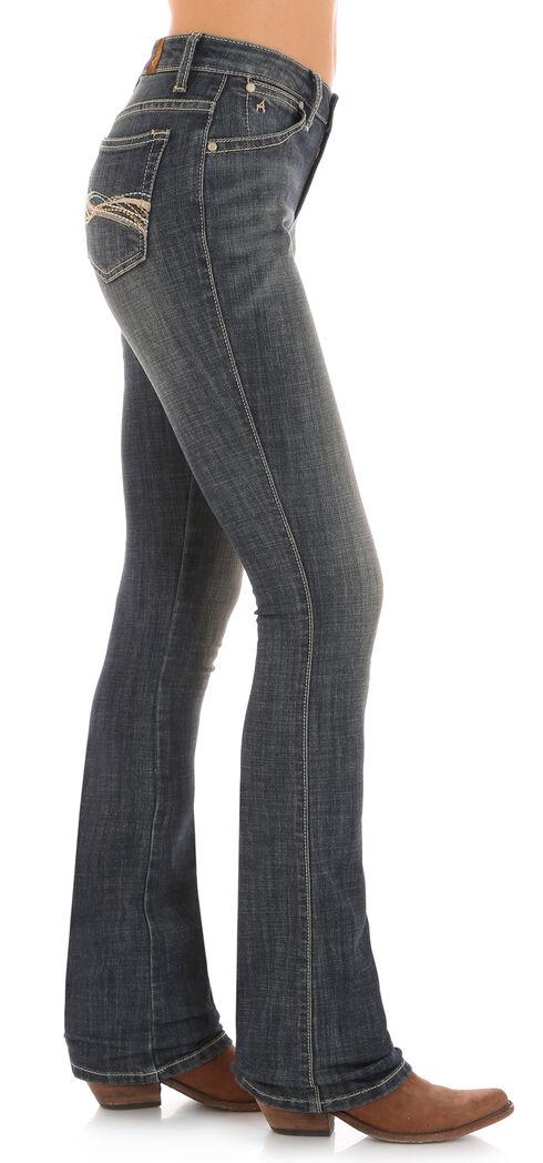 Wrangler Aura Women's Indigo Instantly Slimming Swirl Stitch Jeans - Boot Cut , Indigo, hi-res