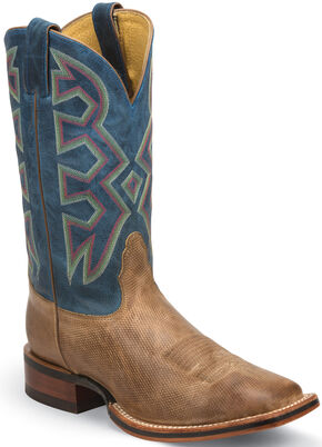 Nocona Temple Tan Let's Rodeo Western Boots - Square Toe , Tan, hi-res