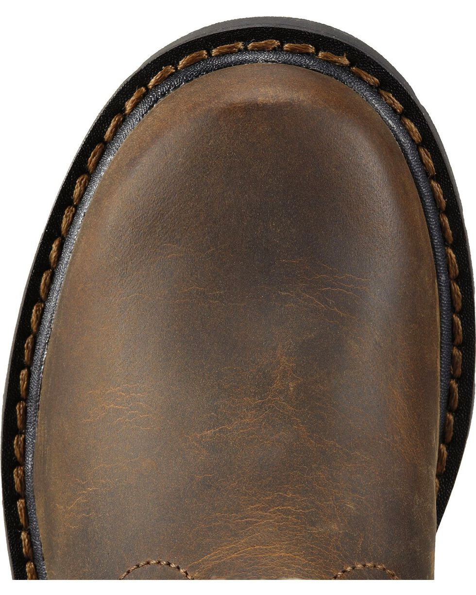 Ariat Youth Boys' Sierra Distressed Cowboy Boots - Round Toe, Brown, hi-res