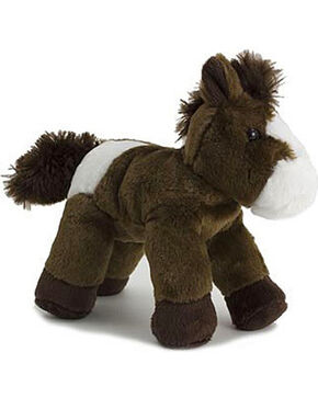 Aurora Paint Horse Mini Flopsie Plush Toy, Dark Brown, hi-res