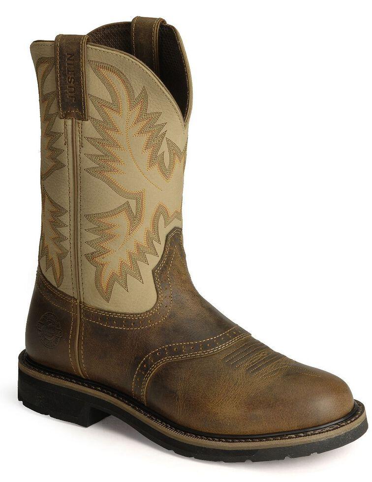 Justin Men S Stampede Superintendent Creme Work Boots