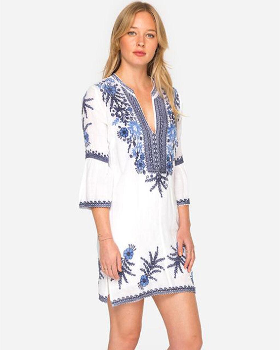Johnny Was Women's White Lila Jo Flare Sleeve Dress , White, hi-res