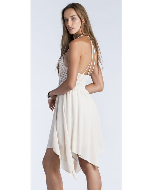 Miss Me Women's Taupe Strappy Smocked Back Dress , Taupe, hi-res