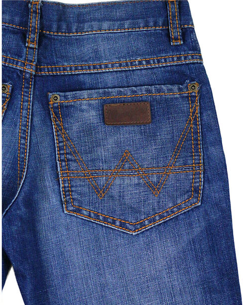 Wrangler Retro Boys' Relaxed Premium Denim Jeans - Boot Cut, Blue, hi-res