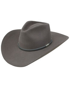 Stetson Men's 6X Country Road Western Felt Hat , Grey, hi-res