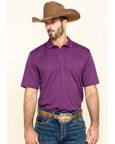 Ariat Men's Purple TEK Short Sleeve Polo Shirt , Purple, hi-res
