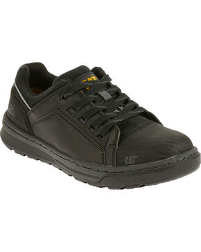 Caterpillar Women's Concave Work Shoes - Steel Toe , Black, hi-res