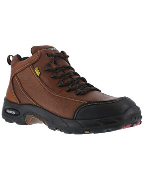 Reebok Men's Tiahawk Sport Hiker Work Boots - Composition Toe, Brown, hi-res