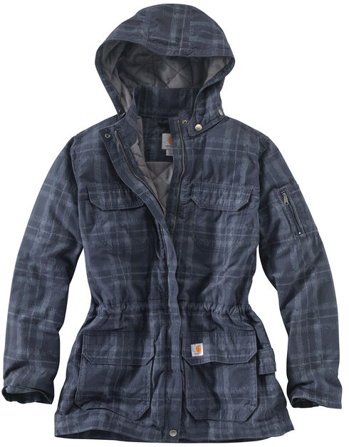carhartt women's gallatin quilt flannel coat