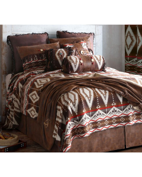 Carstens Pecos Trail Queen Bedding - 5 Piece Set, Brown, hi-res