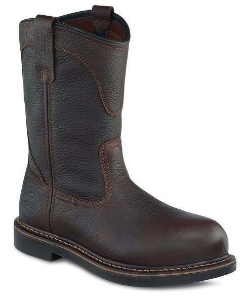 Red Wing Irish Setter Farmington Pull-On Work Boots - Round Toe, Brown, hi-res