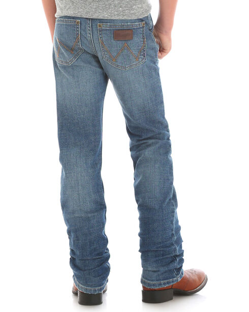 Wrangler Boys' Indigo Retro Slim Fit Jeans - Straight Leg , Indigo, hi-res