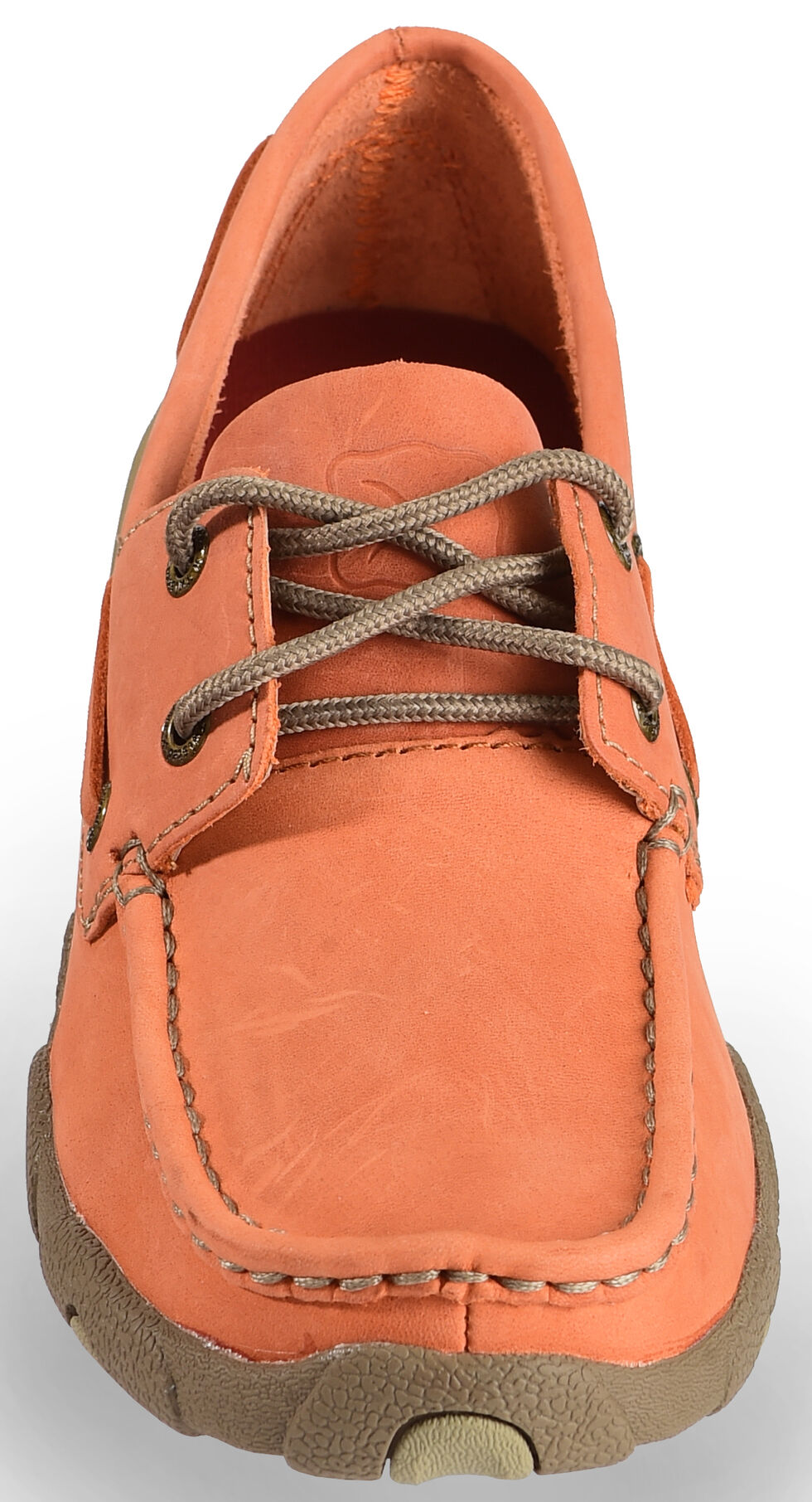 Twisted X Women's Orange Driving Mocs , Orange, hi-res