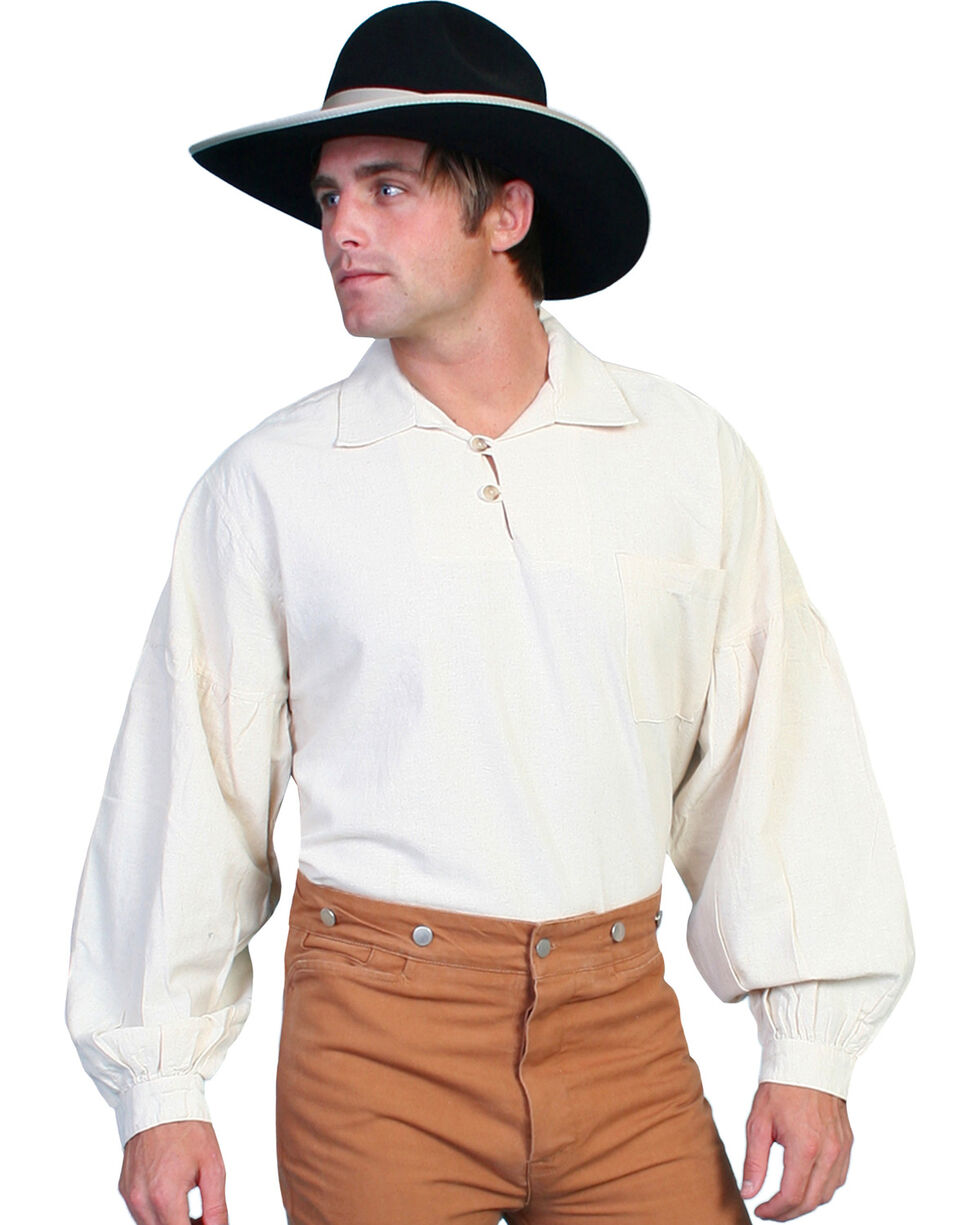 Rangewear by Scully Drop Shoulder Shirt - Big & Tall, Natural, hi-res