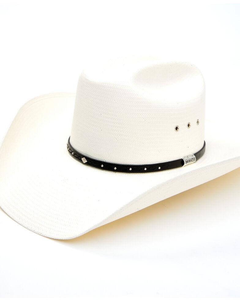 Stetson Men's Natural Hangerman Straw Western Hat , Natural, hi-res