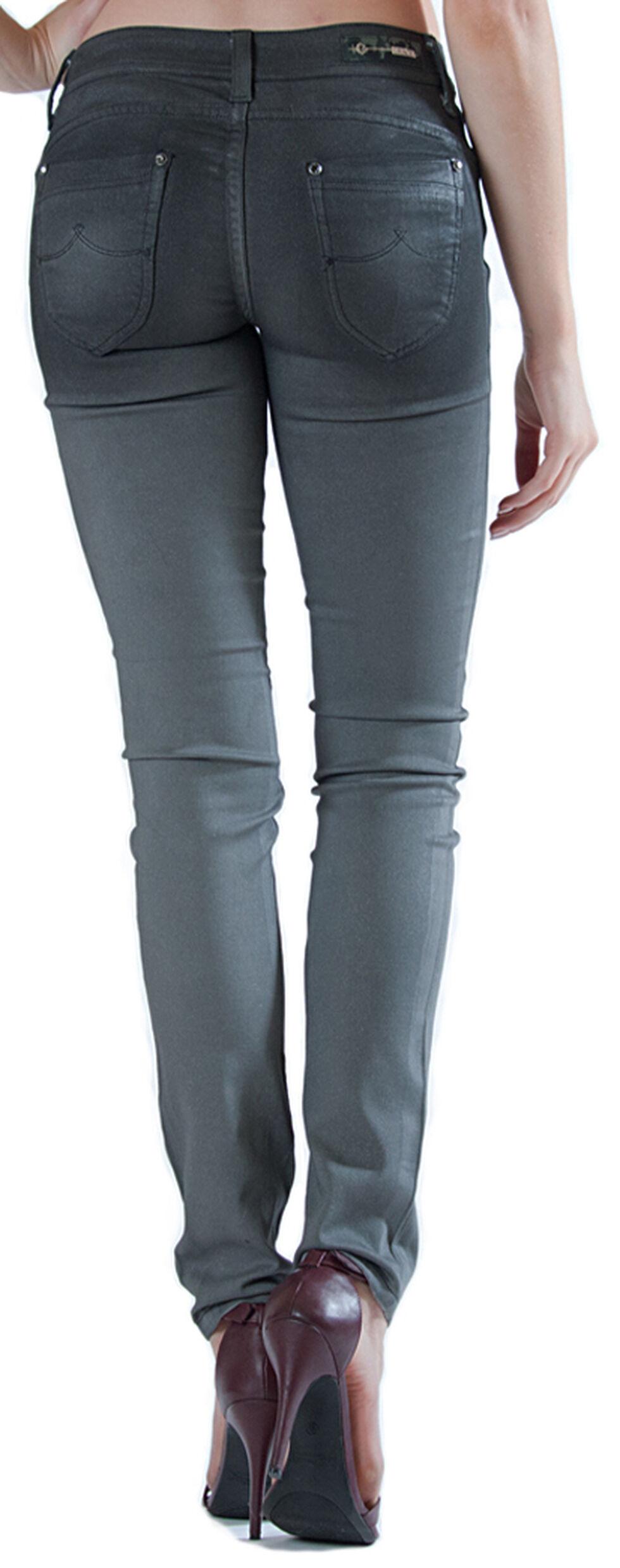 Grace in LA Women's Grey Cast Skinny Jeans, Indigo, hi-res