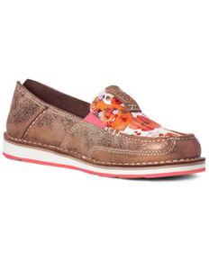 Ariat Women's Copper Cruiser Shoes - Moc Toe, Brown, hi-res