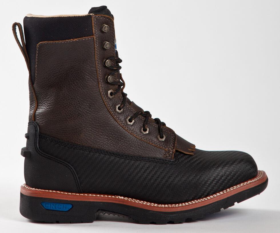 Cinch® WRX Men's Waterproof Steel Toe Lace-Up Work Boots, Black, hi-res