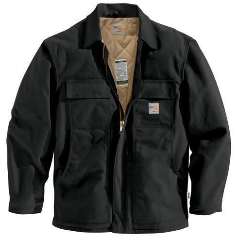 Carhartt Flame-Resistant Duck Traditional Coat - Big & Tall, Black, hi-res