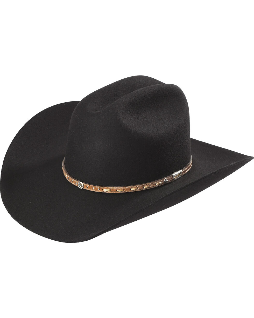 Larry Mahan 3X Premium Wool Black Cowboy Hat , Black, hi-res