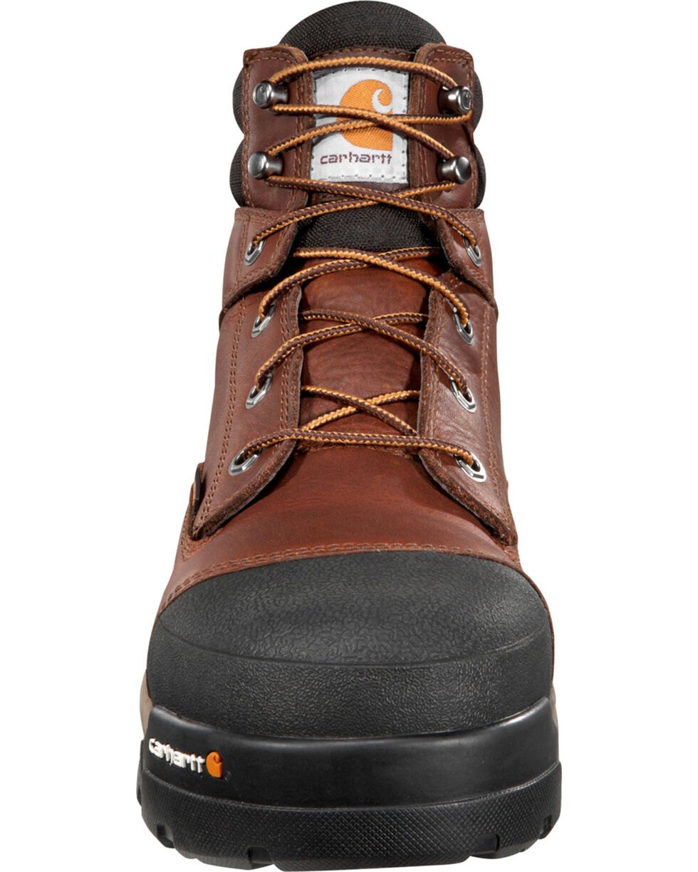 "Carhartt Men's 6"" Ground Force Waterproof Work Boots - Round Toe, Tan, hi-res"