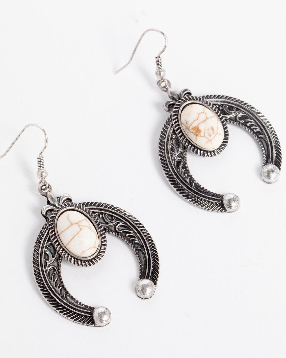 Shyanne Women's Squash Blossom Earrings, Silver, hi-res