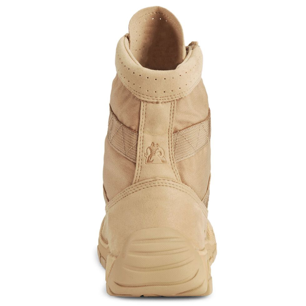 """Rocky C4T 8"""" Lace-Up Training Military Boots - Round Toe, Tan, hi-res"""