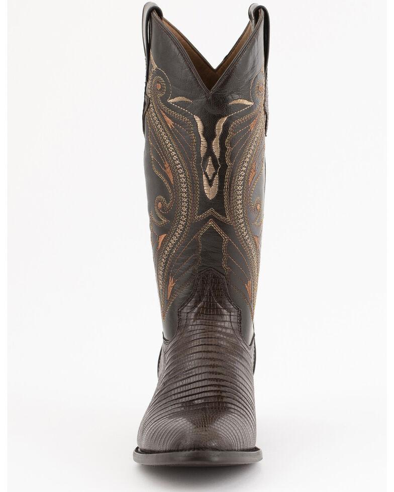 Ferrini Men's Peanut Teju Lizard Cowboy Boots - Medium Toe, Chocolate, hi-res