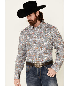 Cody James Core Men's Rein In Large Floral Print Long Sleeve Button-Down Western Shirt - Big, Multi, hi-res
