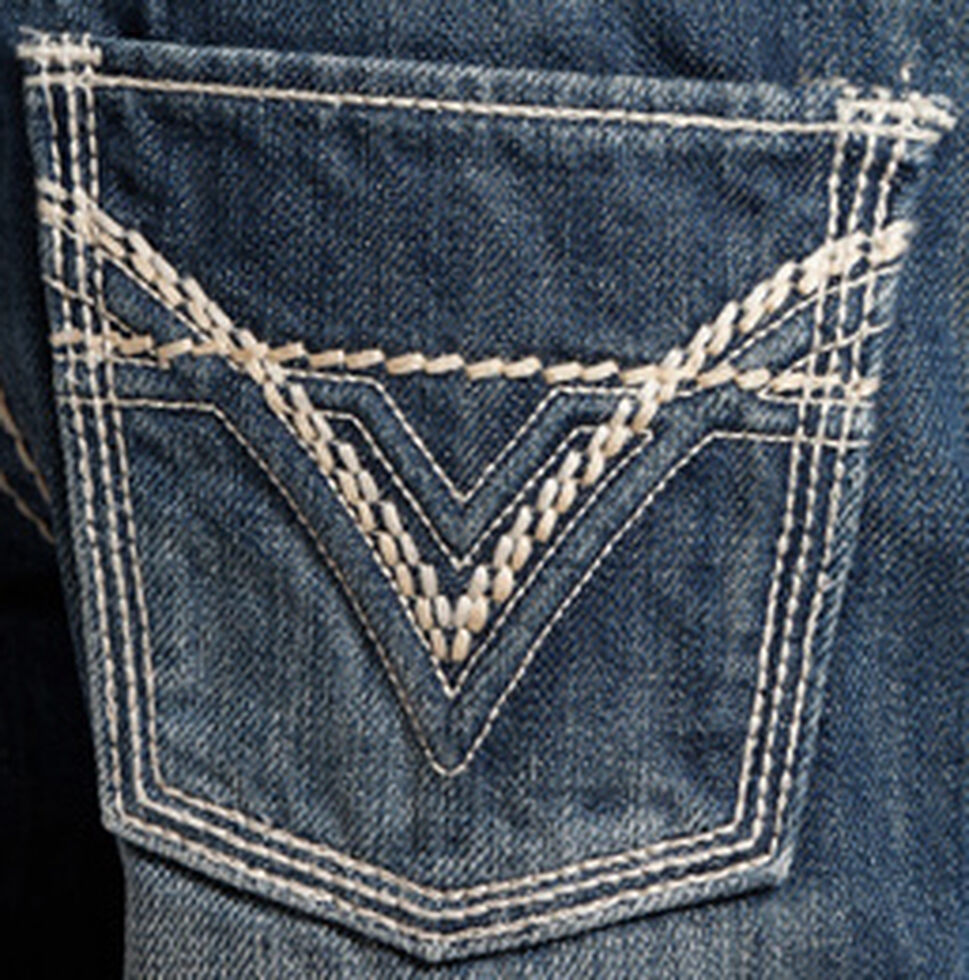 Rock & Roll Cowboy Boys' BB Gun Distressed Vintage Boot Cut Jeans, Denim, hi-res