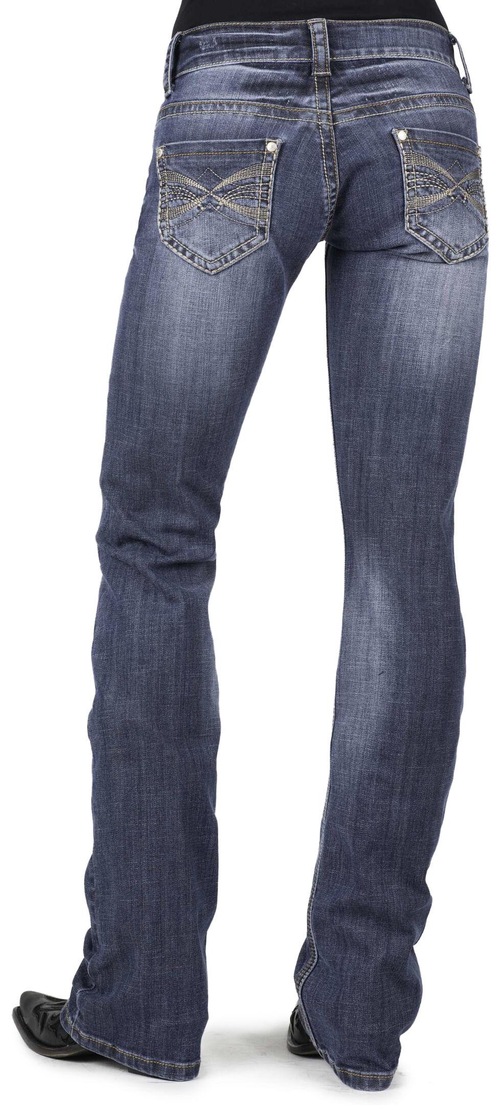 Stetson Women's 818 Contemporary X-Stitch Boot Cut Jeans - Plus, Denim, hi-res
