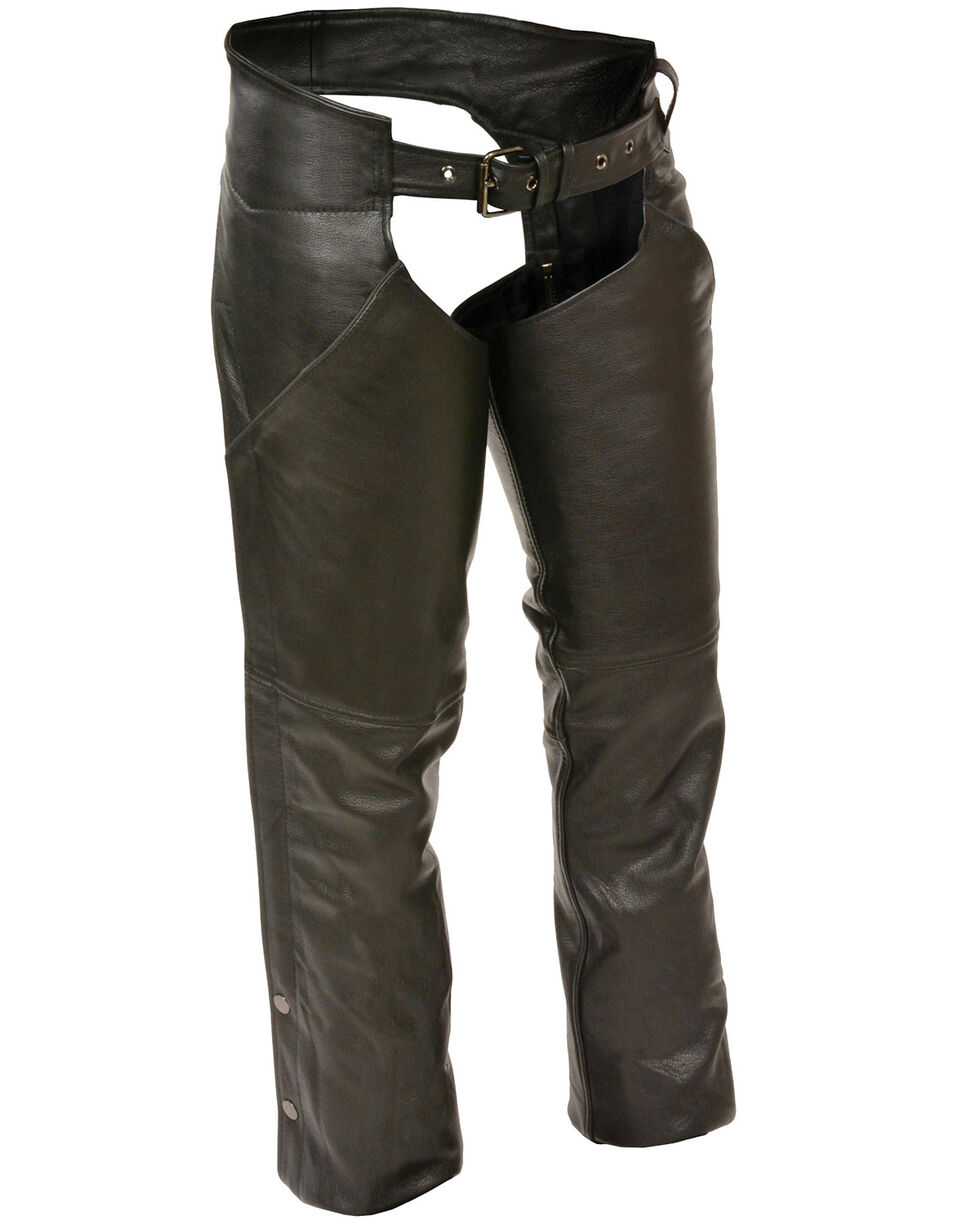Milwaukee Leather Women's Hip Pocket Chaps, Black, hi-res