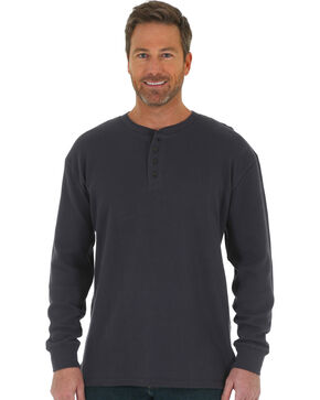 Wrangler Men's Navy RIGGS Thermal Henley , Navy, hi-res