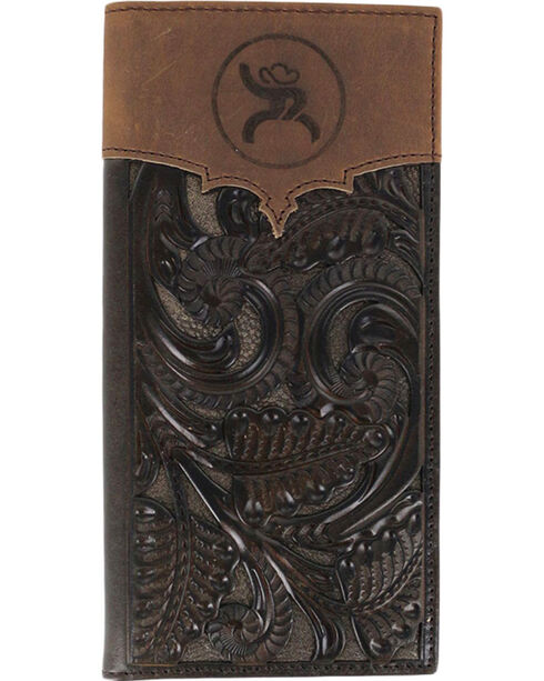 HOOey Men's Rodeo Tooled Wallet, Taupe, hi-res