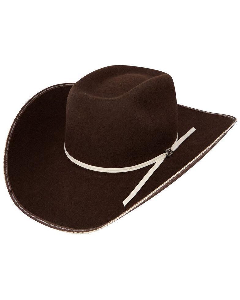 Resistol Men's 4X Tuff Hedeman Snake Eyes Felt Cowboy Hat, Cordovan, hi-res