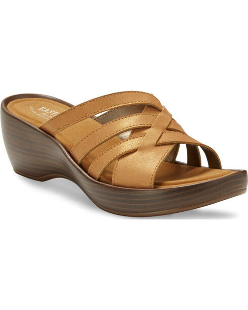 Eastland Women's Tan Poppy Wedge Sandals , Tan, hi-res