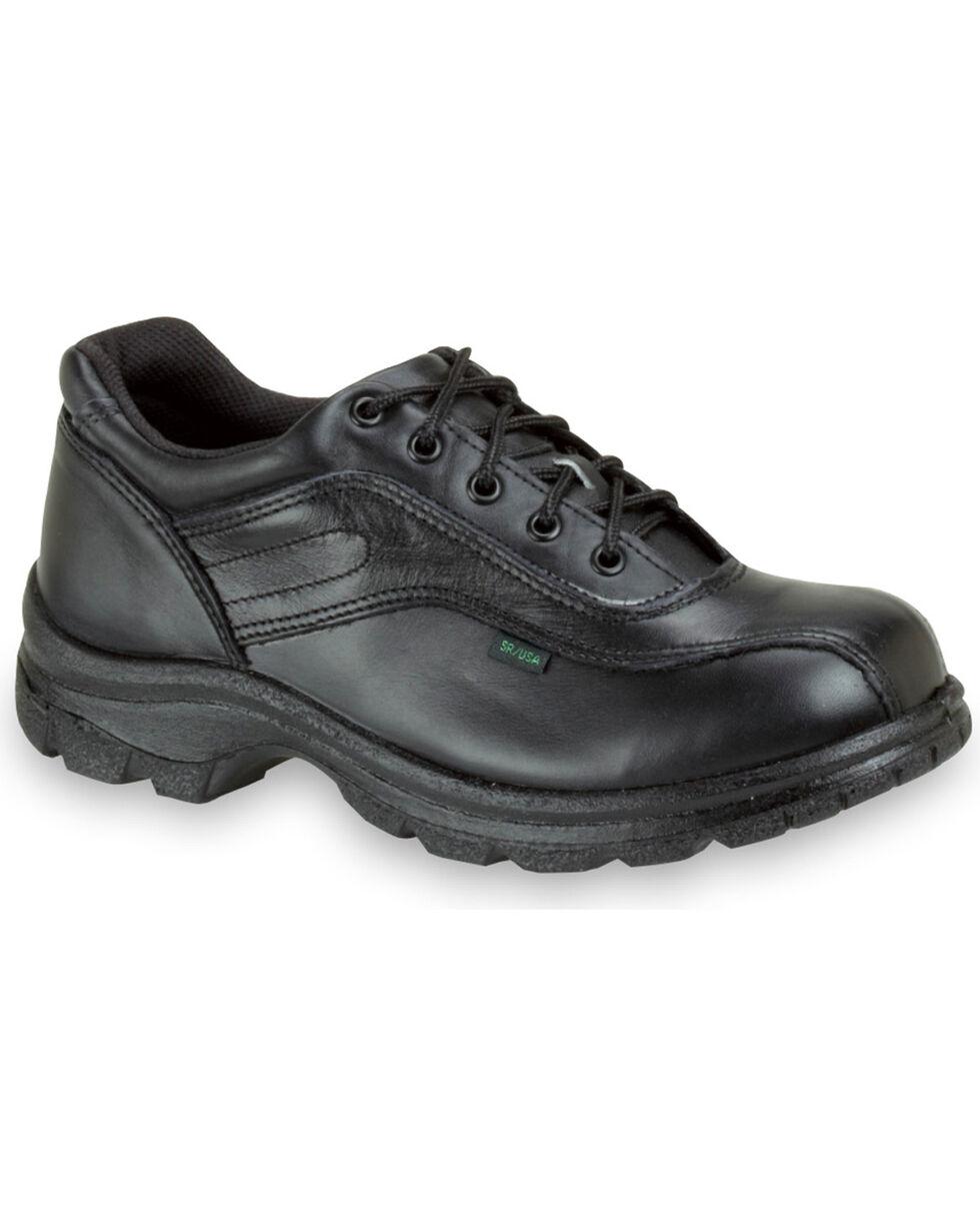 Thorogood Men's Postal Certified Double Track Oxfords - Steel Toe, Black, hi-res