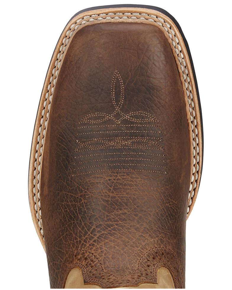 "Ariat Men's Quickdraw 11"" Western Boots - Square Toe, Bark, hi-res"