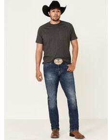 Wrangler Retro Premium Men's Platte Dark Stretch Slim Straight Jeans, Blue, hi-res