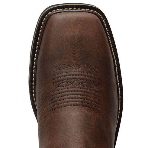 Justin Stampede Waxed Brown Western Work Boot - Steel Toe, Waxed Brn, hi-res