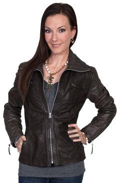 Scully Zip-Up Lamb Jacket, Black, hi-res