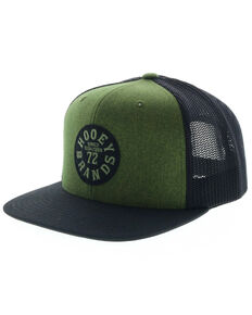 HOOey Men's Green Pioneer Trucker Cap, Green, hi-res