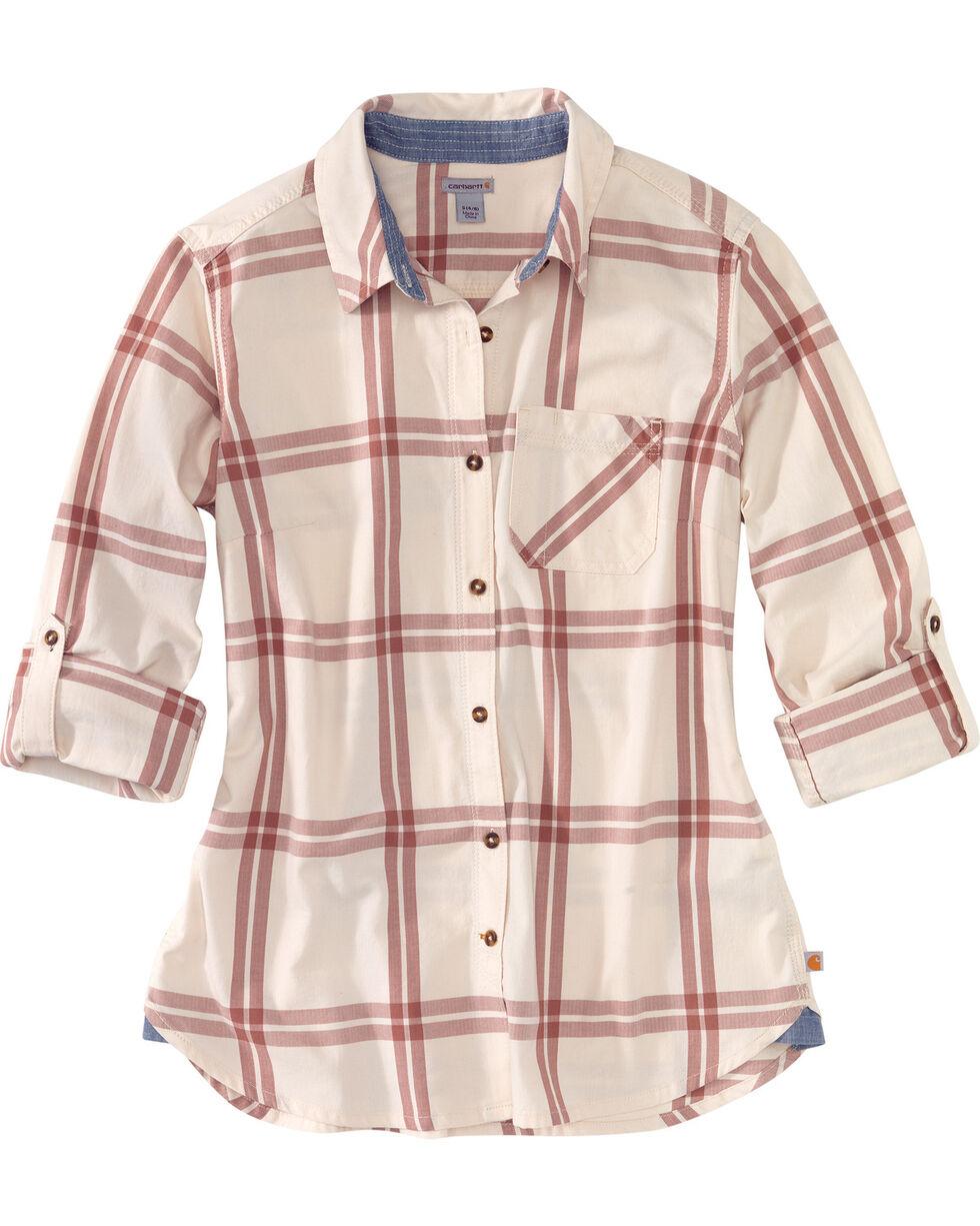 Carhartt Women's Dodson Plaid Long Sleeve Shirt, Purple, hi-res