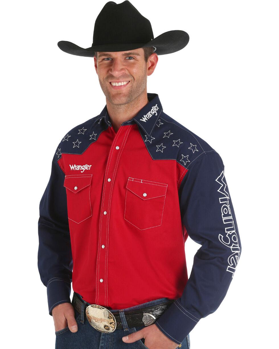 Wrangler Men's Red Star Logo Shirt - Tall, Red, hi-res