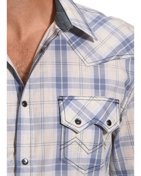 Cody James Men's Silver Legacy Plaid Long Sleeve Shirt, Grey, hi-res