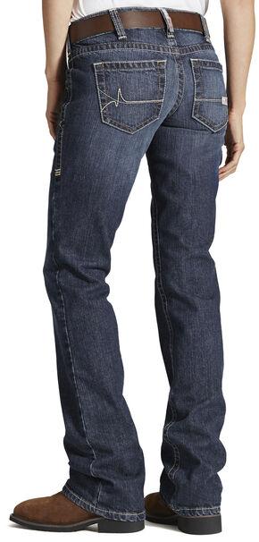 Ariat Women's Fire-Resistant Bootcut Work Jeans, Denim, hi-res