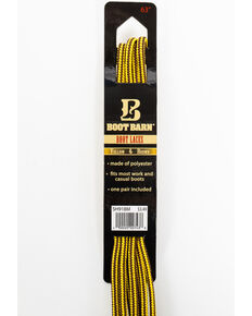 BB Ranch Yellow & Brown Boot Laces, Yellow, hi-res