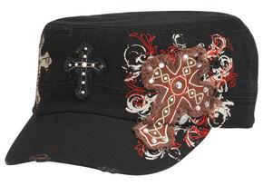 Blazin Roxx Cross Embroidered Cap, Black, hi-res