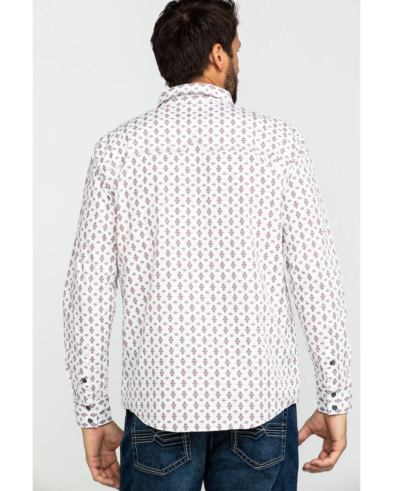 Moonshine Spirit Men's Excalibur Geo Print Long Sleeve Western Shirt , White, hi-res