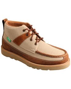 Twisted X Men's Wedge Sole Driving Shoes - Moc Toe, Beige/khaki, hi-res